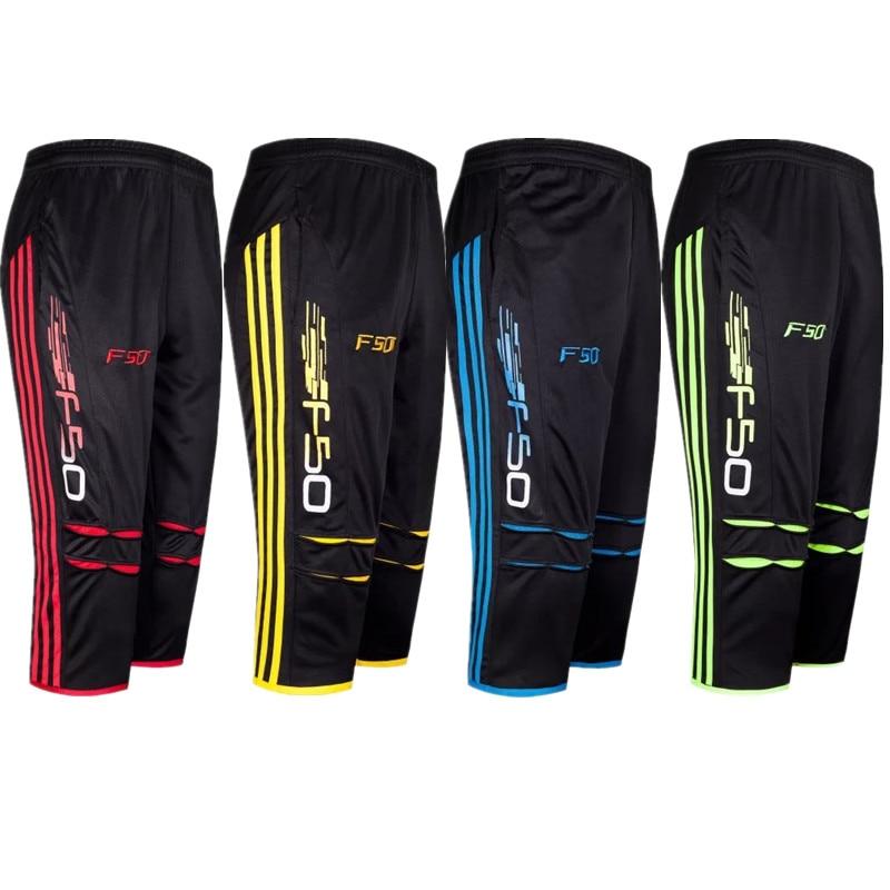 Hombres Jogging fútbol pantalones 3 4 longitud pantalones tenis baloncesto  deportes Running Fitness Gym Pantalones 55e1ef86a6120