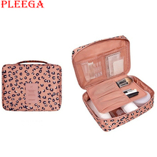 PLEEGA Brand Women Cosmetic Bag Pattern Canvas Portable MakeUp Bags Cosmetic and Makeup Tools Organizer Bags Travel Wash Pouch
