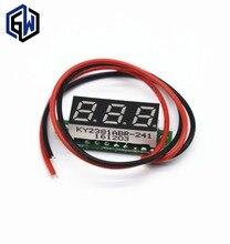 0.28 Inch 2.5V-40V Mini Digital Voltmeter Voltage Tester Meter RED/BLUE/YELLOW/GREEN LED Screen  30*10*8mm