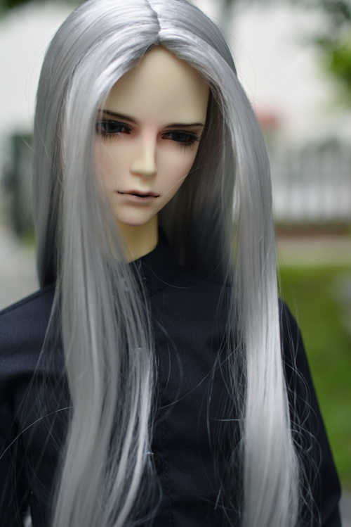 "1/3 8-9"" BJD Wig Super Doll Wig Fashion Long Silver Colors Mohair Style Doll Hair Free Shipping"