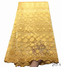 Hot sale African Lace Fabric 2019 High Quality Tulle Dresses For Women Embroidery Net French 217