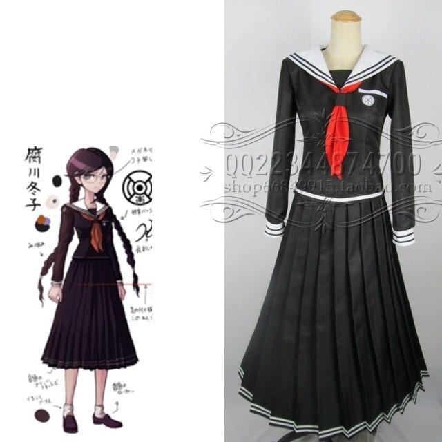Dangan Ronpa Danganronpa Cosplay Costume Genocide Jill Toko Fukawa Uniform  Coat + Skirt+Scarf+