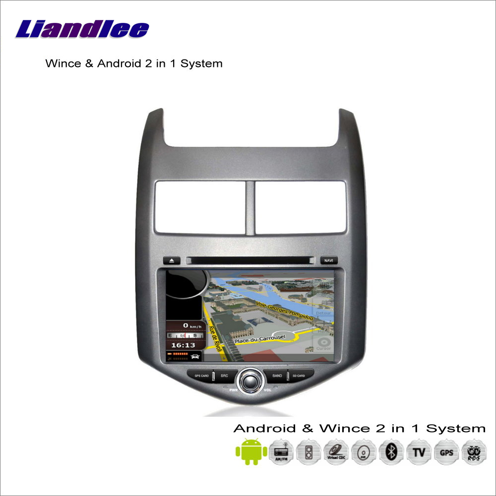 Liandlee For Chevrolet Aveo / Sonic / For Holden Barina Car Radio BT CD DVD Player GPS Navigation Wince & Android 2 in 1 System