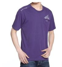 Men's clothing summer t-shirt men quinquagenarian shirt male short-sleeve round collar solid color cotton undershirt plus size