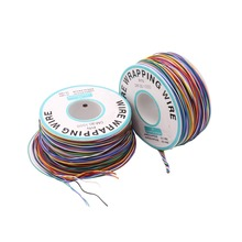 30AWG 0.5mm PCB flying jumper wire OK line Wrapping Wrap Flexible insulation tin-plated 250meter 820FT single conductor
