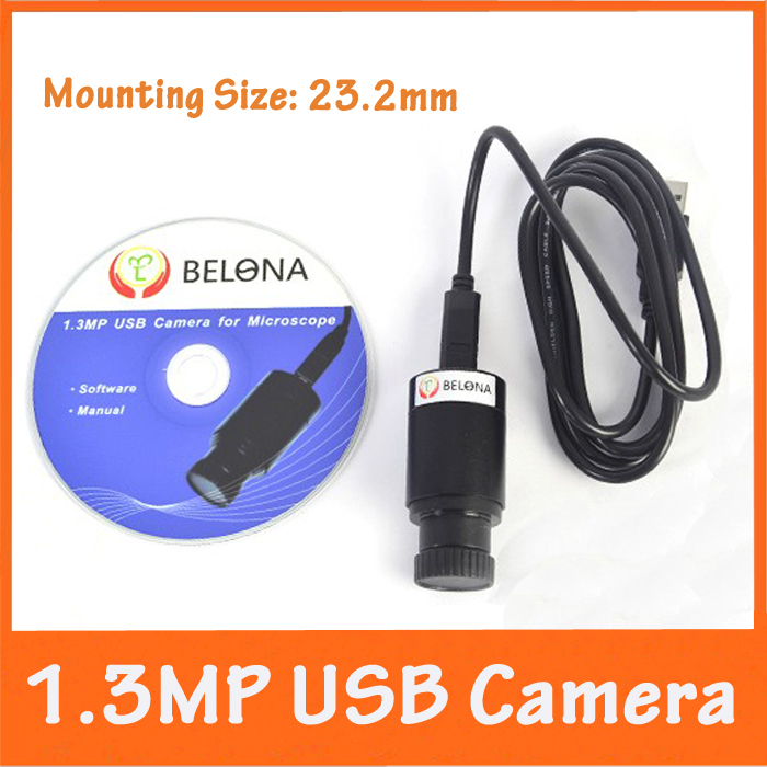 1.3MP USB Digital Electronic Camera Eyepiece for Biological Microscope with Measurement Scale for XP System Computer or Laptop 6 pieces eyepiece micrometer and 1 piece stage objective calibration slide for biological microscope 23 2mm ocular