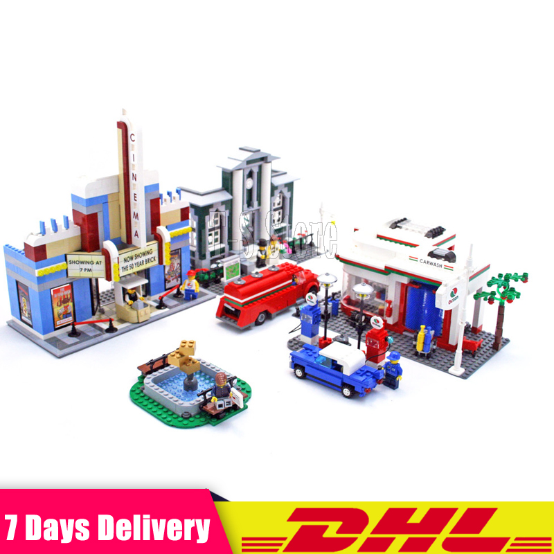 DHL IN Stock 2018 Lepin 02022 2080pcs City 50th Anniversary Town Plan Building Blocks Bricks Educational Toy for Gifts Fit 10184 waz compatible legoe city lepin 2017 02022 1080pcs city 50th anniversary town figure building blocks bricks toys for children