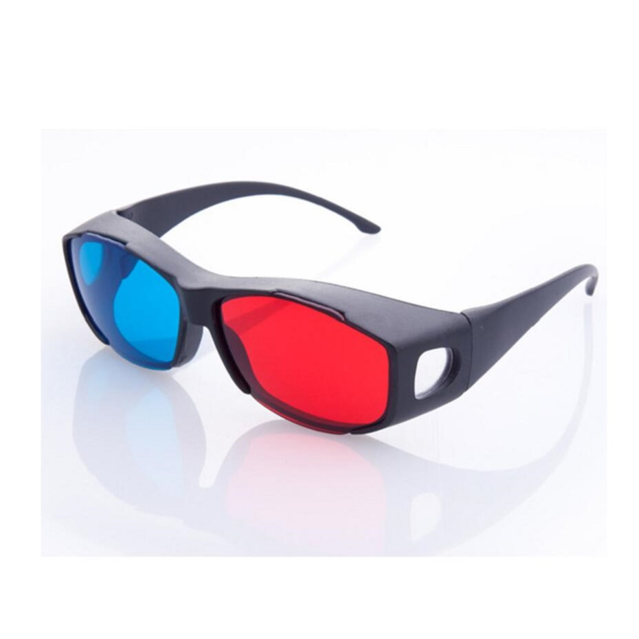 Universal Type 3D Glasses Red Blue  Format Video 3D Glasses 3D Plastic Glasses Suitable Family Watching Movies
