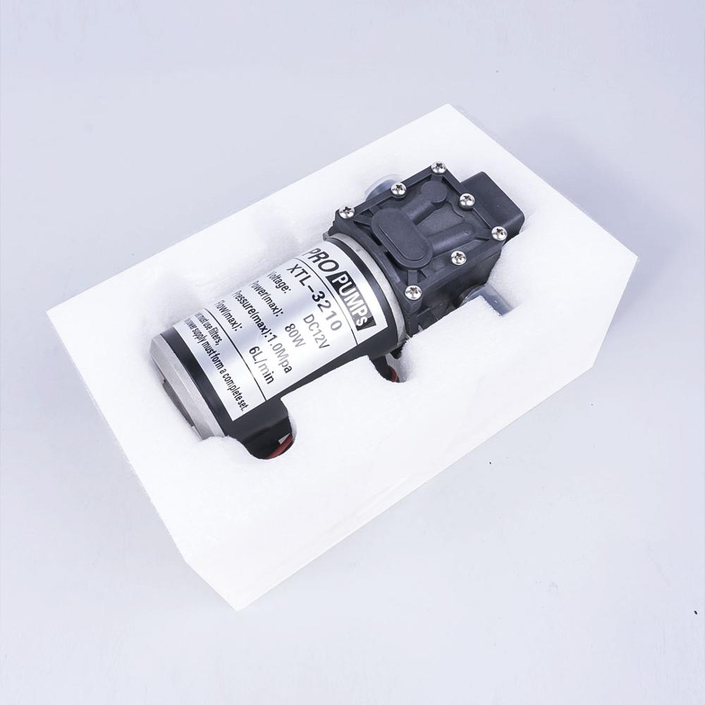 Commutateur automatique automatique de pompe de Reflux auto-amorçante de diaphragme à haute pression de l'eau 12 V 80 W 1.0Mpa 130PSI 6L/Min - 6
