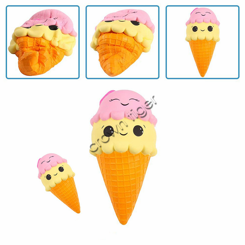 Kawaii Squeeze Jumbo Squishy Ice Cream Slow Rising Scented Stress Relieve Toy Skuishy Squish Antistress Fidget Toy  For Children