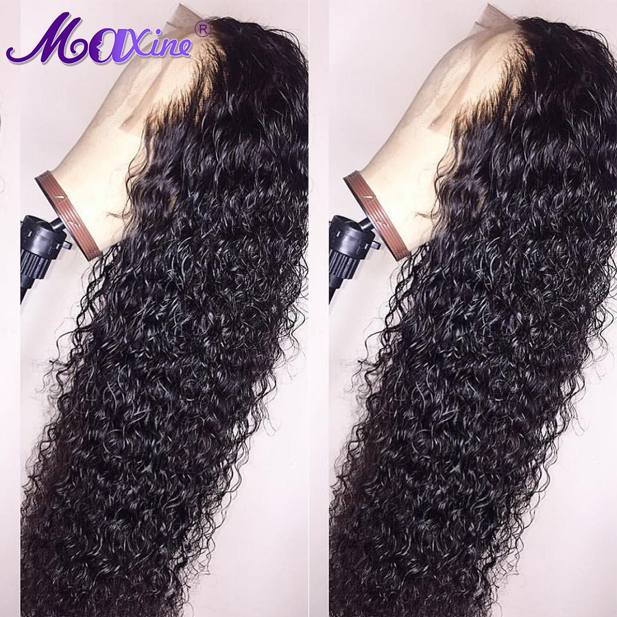 Deep Curly Human Hair Wig Lace Front Human Hair Wigs Pre Plucked With Baby Hair Glueless Brazilian Lace Wig Full End Remy Maxine(China)