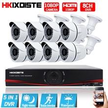 HD 8CH CCTV System 1080P HDMI DVR AHD 1080P CCTV Security Camera 8PCS 2.0MP IR Outdoor Waterproof camera Video Surveillance kit