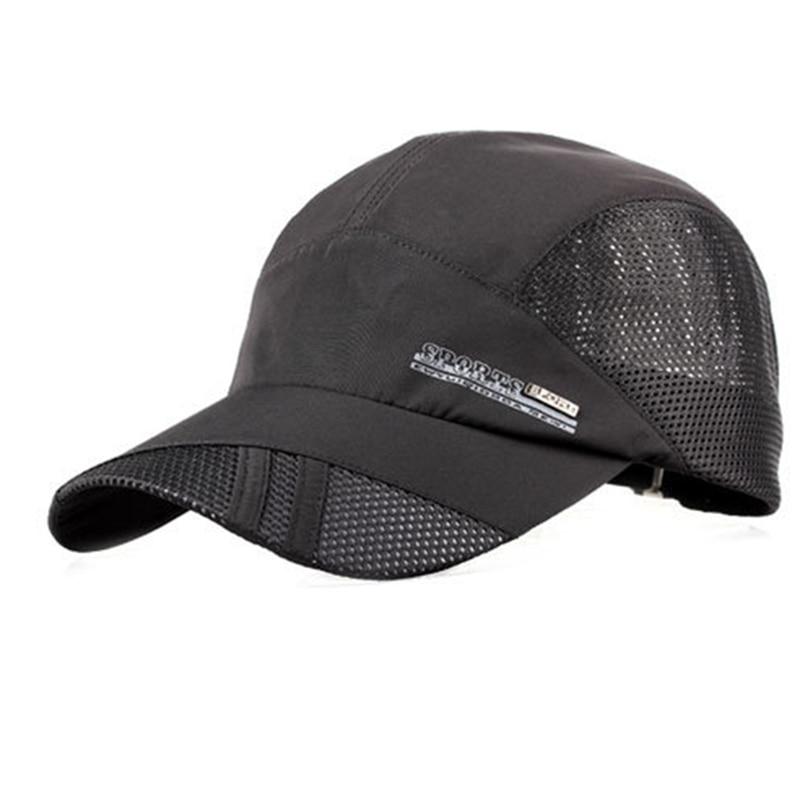 Summer Men Women Snapback Cap Quick dry Summer Sun Hat Visor Hip-Hop bone breathable Chapeu Casual Mesh men Baseball caps