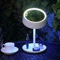 Espejo de Maquillaje Espejo de aumento Espejo de maquillaje Con Luz LED Multi-función de Espejo de maquillaje Forma Redonda
