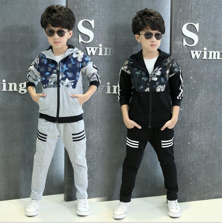 Kids Long - sleeved Costume For Boys Sports Suit Fashion Slim Ensemble Garcon Children 's Two - piece Boy Spring And Autumn