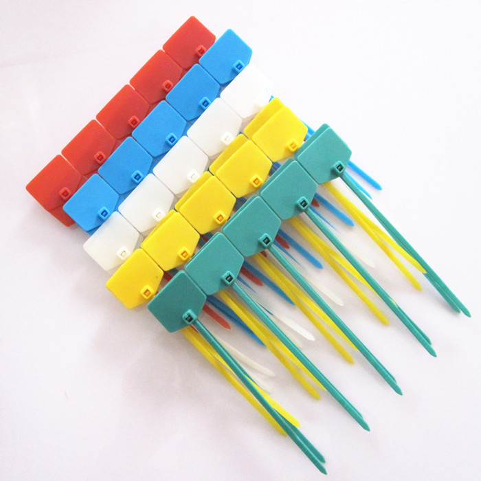 100pcs 3*120mm sign cable tie/ Plastic cable tie/ tag tied red yellow blue