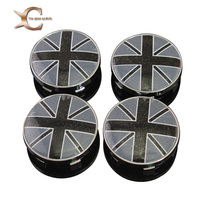 4pcs W146 60mm Emblem Badge Sticker Wheel Hub Caps Center Cover Flag UK BRITISH MINI