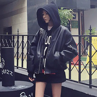 Windproof Outdoor Jacket Casual Women PU Leather Motorcycle Jacket Slim Female Solid Color Black Outerwear Jacket