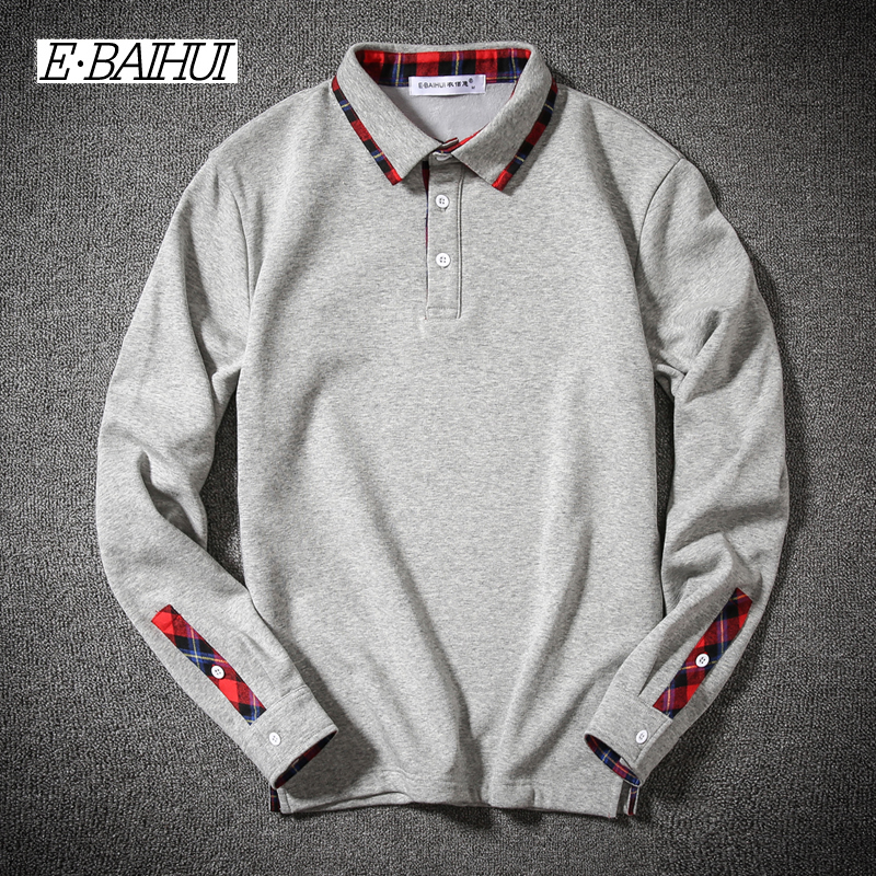 E-BAIHUI 2017 New Fashion Brand Men Clothes Solid Color Long Sleeve Slim Fit T Shirt Men ...