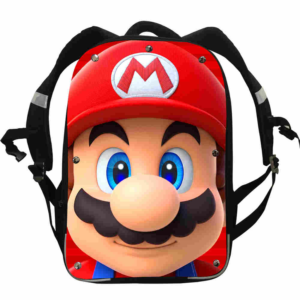 Mochila-Box Pencil-Case School-Bags Penguin Animal Lunch Super-Mario-Backpacks Teenager title=
