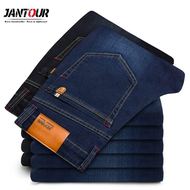 jantour 2018 New Spring summer Jeans Men High Quality Brand Denim trousers soft men pants fashion Large Big size 40 42 44 46