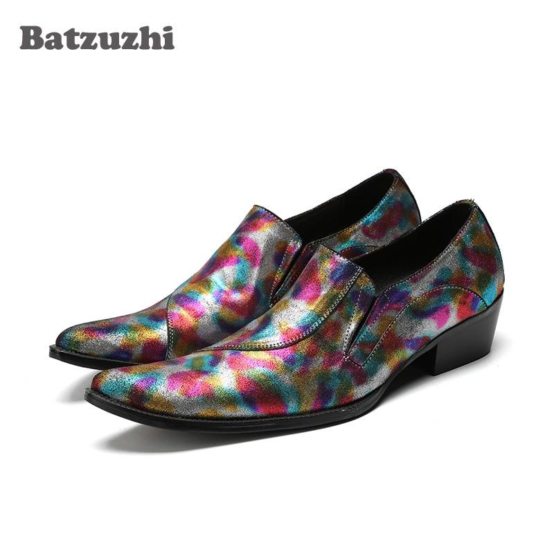 Здесь можно купить  Batzuzhi Japanese Fashion Mens Shoes Pointed Toe Color Genuine Leather Mens Dress Shoes Designer