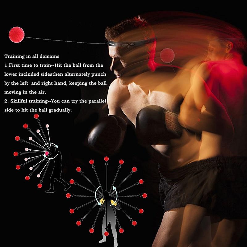 Boxe luta reflex bola bandana soco bolas de perfuração artes marciais fitness ginásio exercício equipamentos de treinamento melhorar a reação 4