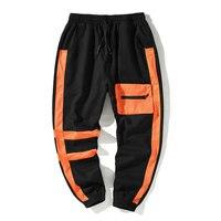 2019 New Men's Side Pockets Cargo Harem Pants Hip Hop Casual Male Tatical Joggers Trousers Fashion Streetwear Pants ABZ303
