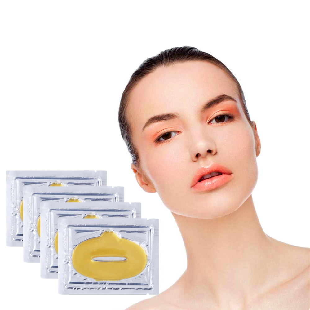DISAAR 1pcs Women Gold Collagen Lip Mask Nourishing Essence Increase Elasticity Patch for lips Pad image