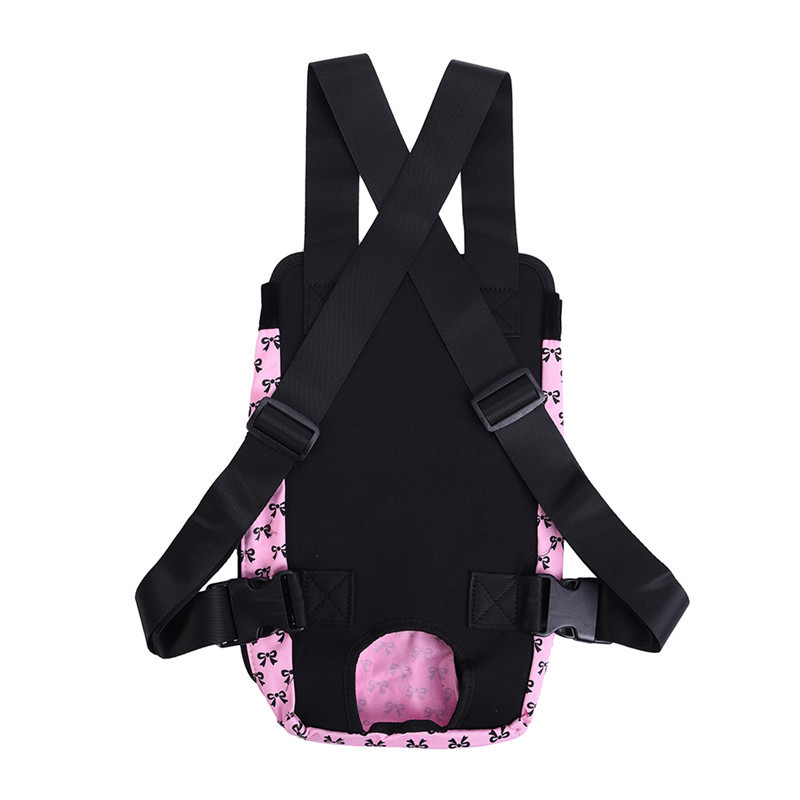 Cute Small Dog Backpack Carrier with Bowknot Pattern 16