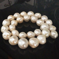 16 inches 13 16mm White Irregular Nucleated Loose Large Baroque Pearl Strand