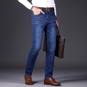 Image 4 - Autumn Winter Fashion Men Jeans New Famous Brand Stretch Mens Jeans Pants Business Casual Skinny Denim Trousers Mens Size 28 40
