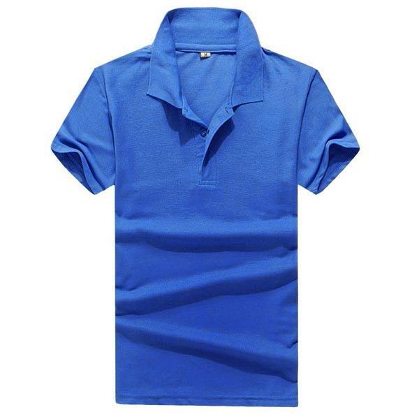 Solid color retro men boy lapel tops short sleeve tee t for Solid color short sleeve dress shirts