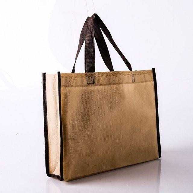 wholesale 500pcs/lot custom printed company logo on reusable non woven shopping bags gift handbag eco grocery tote bags for ads