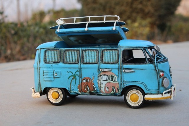 Free Shipping Handmade Vintage Car Bus & Piggy Bank