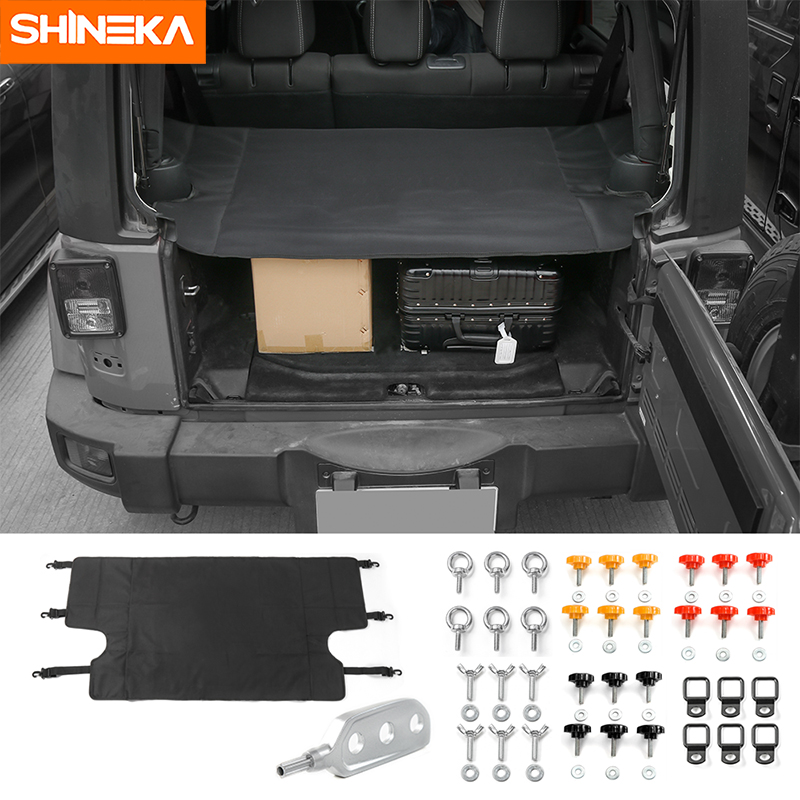 SHINEKA 4 Doors Car Trunk Cover Tail Door Screw Buckle Dismantle Disassemble Dismount Tool Remover for Jeep Wrangler JK 2007+ 8pcs stainless steel side door decoration strip for 4 doors for jeep wrangler jk 2007 2016 4 doors car styling accessories