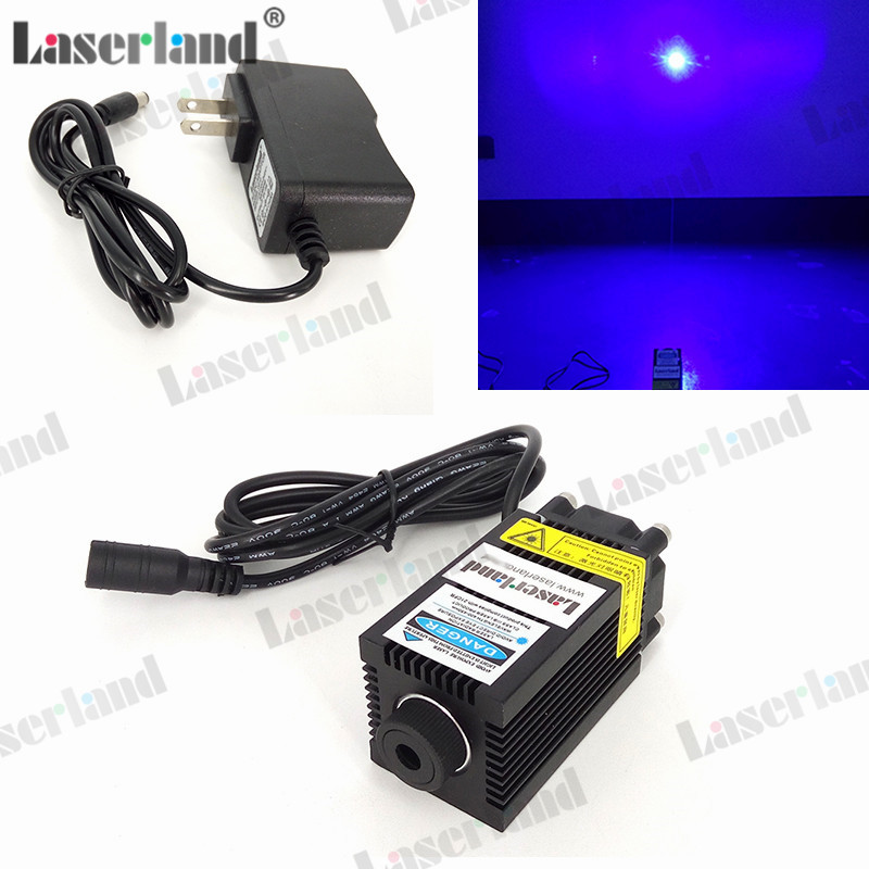 Engraving DIY Focusable 300mW 405nm Violet Blue Laser Diode Module with Fan 12vdc Adapter цена