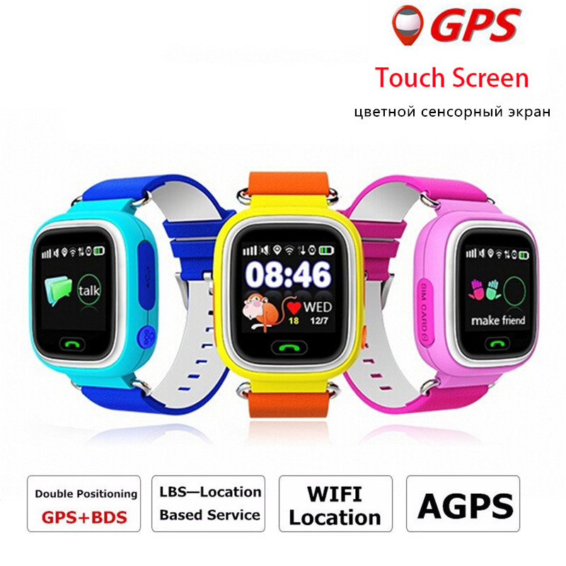 Q90 GPS smart watch baby watch Wifi touch screen SOS Call Location Tracker for Kids Safe Anti-Lost Monitor Smartwatch PK Q60 Q80 smart baby watch каркам q60 голубые