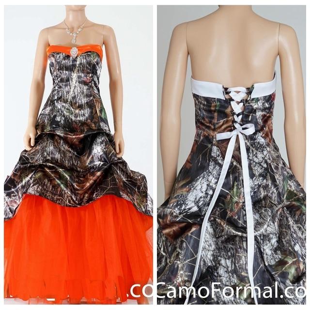 Custom online orange tulle skirt brown camo camuflaje sale barato ...