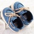 Primavera Outono Sapatos de Bebê Anti-skid Sapatos Rendas Sapatos de Bebê Do Sexo Masculino Sapatos Da Criança WMC234