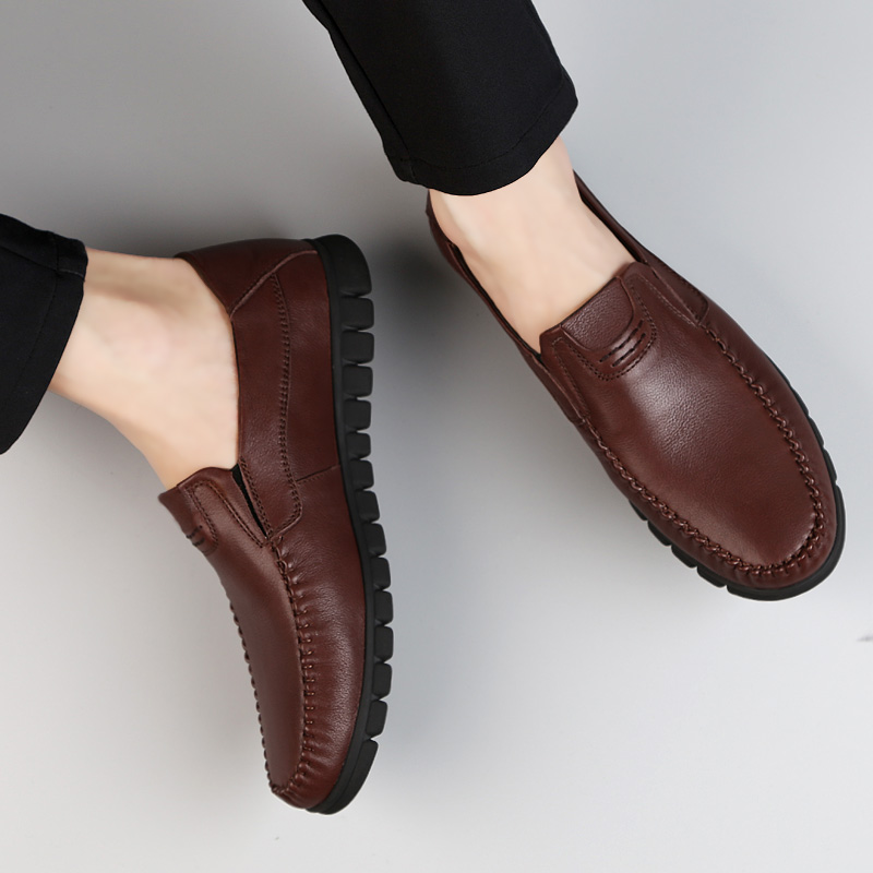2018 new fashion men's shoes genuine leather breathable loafers man - Men's Shoes - Photo 3