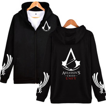 Assassins Creed Hoodies Black Cosplay Sweatshirt Assassins Creed Hoodie Jacket Men and Women Black Hip Hop Sweatshirts Plus Size