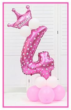 16 шт./упак. розового и голубого цвета для детей 0-9 цифры Большие Гелиевые номер Фольга детей фестивалей Dekoration День рождения шляпа игрушки для детей - Цвет: pink 4