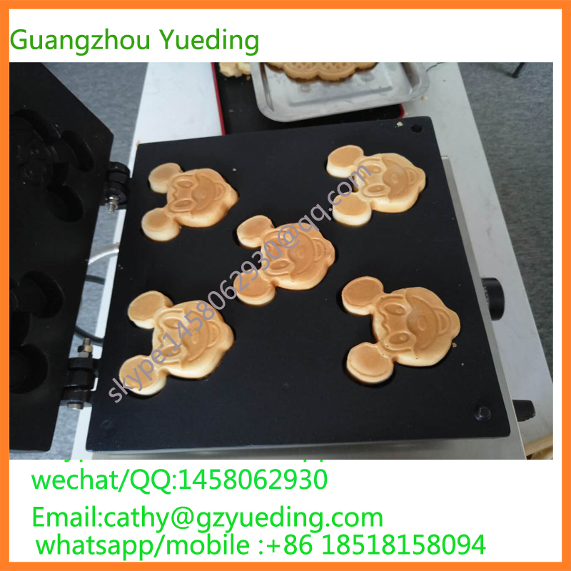 Cartoon Mickey waffle maker waffle making machine egg waffle cone maker factory price ice cream waffle cone maker round egg roll waffle maker waffle making machine