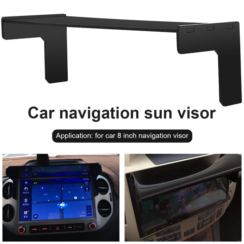 New DIY 8inch Car GPS Screen Sunshade Black GPS Sunshade For 8 Inch Navigation Accessories Automatic DVD GPS Easy To Install in Sun Visors from Automobiles Motorcycles