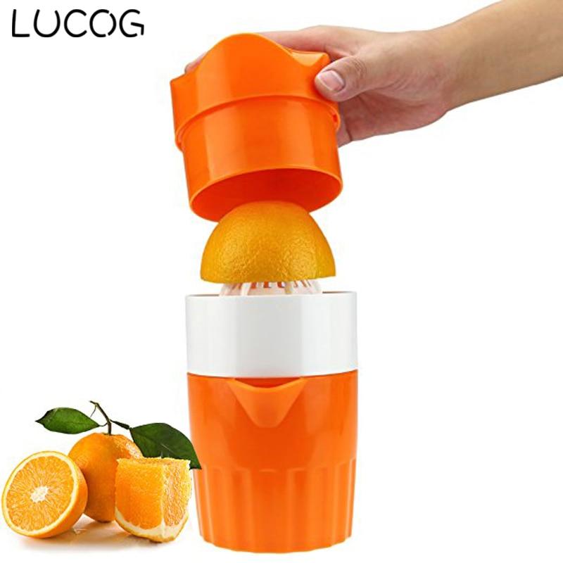 LUCOG Portable Manual Lemon Juicer Mini Fruit Juicer Hand Lemon Orange Citrus Squeezer Big Capacity Mini Home Appliances