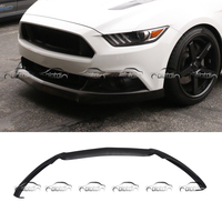 for FORD Mustang 2015 up P Shape Style Car Styling PU Material Front Lip Bumper Spoiler