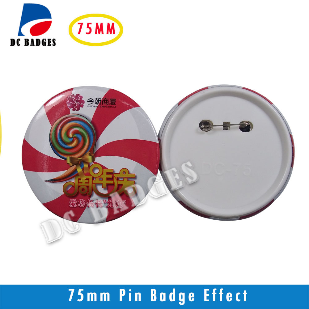 Wholesale manufacturers 3(75mm) 1000sets  Plastic Pinback Badge Material,Blank button  components wholesale patriot gp 2510