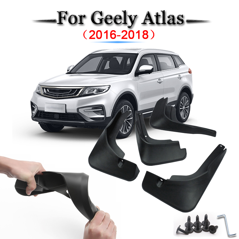 Car Styling ABS Car Mud Flaps Splash Guard Mudguard Mudflaps Fenders External Cover Car Accessories For <font><b>Geely</b></font> <font><b>Atlas</b></font> 2016-2018 image