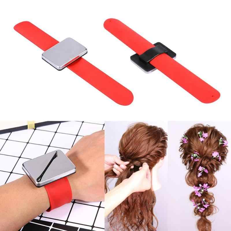 Professional Magnetic Bracelet Wrist Band Strap Belt Hair Clip Holder Hairdressing Styling Barber Tools Hair Salon Accessories
